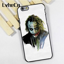 LvheCn phone case cover fit for iPhone 4 4s 5 5s 5c SE 6 6s 7 8 plus X ipod touch 4 5 6 TWO SIDE OF THE JOKER BATMAN