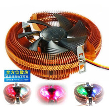 For Amd intel 775 1155 1156 i5 i3 1155 AM2+ AM3 Computer cpu LED multicolor Cooling fan copper heat pipe quiet fan radiator