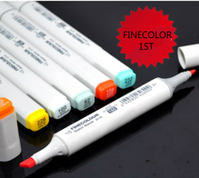 Hot selling 10 pcs/lot  FINECOLOUR 1st Generation oily alcohol double headed art copic Marker Painting supplies free shipping