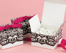 Damask Wedding Candy Box  50PCS/LOT wedding party guest gift present favor box chocolate box (Ribbon not included)
