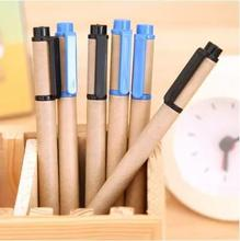 school stationery supplier online gel pen kraft paper creative office work unisex pen 10pcs/lot ARC921