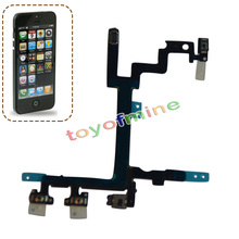 Power Button Switch On/Off Flex Cable Metal Bracket Assembly Ribbon Replacement For iPhone 5 5G Free Shipping(China)