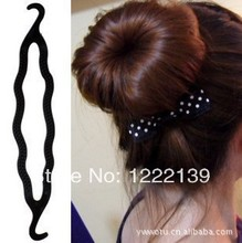 Free shipping Magic Hairpin Plastic Hair Maker Meatball Head Great Hair Tools Hot-selling Hair Accessories Useful Salon