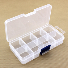 8 dividers transparent plastic storage box toy jewelry accessories small objects organizer box case free shipping