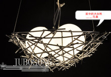 FREE SHIPPING bird nest lighting modern dining room GALSS pendant light bedroom lamps pendant lamp
