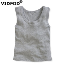VIDMID KIDS baby girls summer vests tops candy color big boy girl cotton sleeveless underwear children kid vest 2-12Y 1007 06 - Official Store store