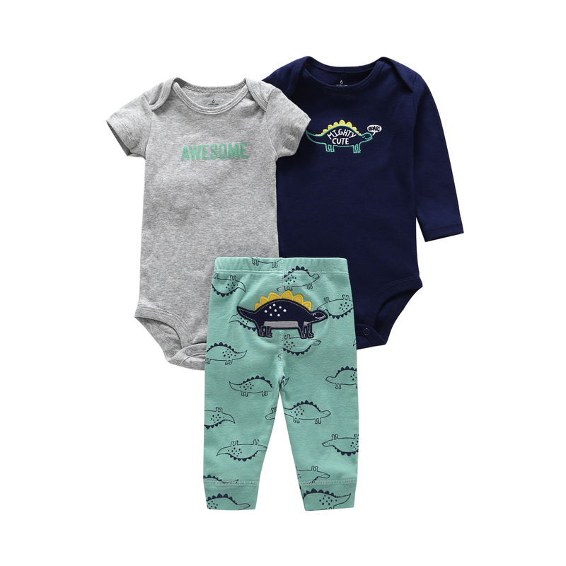 baby boy clothes long sleeve romper+pant newborn girl outfit summer set infant clothing new born suit costume cotton 2019