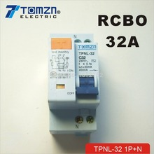 DPNL 1P+N 32A 230V~ 50HZ/60HZ Residual current Circuit breaker with over current and Leakage protection RCBO