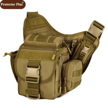 Protector Plus DSLR Camera Bag Army Messenger Men Handbag Casual Saddle Camouflage Shoulder Bags High Quality Nylon Pack D548(China)