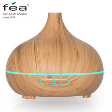 FEA 300ml Essential Oil Diffuser Wood Grain Ultrasonic Aroma Cool Mist Humidifier for Office Bedroom Baby Room Study Yoga Spa