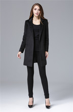 Cheap and Chic Celebrity All-match Woolen Medium Long Jacket