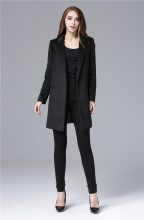 Cheap and Chic Celebrity All-match Woolen Medium Long Jacket(China)