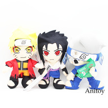 Cartoon Naruto Uchiha Sasuke Gaara Uchiha itachi Soft Stuffed Dolls Cute Plush Toys Kids Christmas Gift 34cm(China)