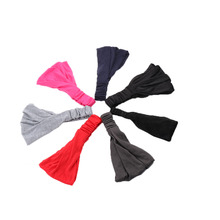 Hair Accessory Full Vintage Wide Soft Breathable Elastic Ribbon Headband Hair Band Bandanas Scarf Tops
