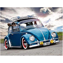 "New Full Square Diamond 5D DIY Diamond Painting ""Blue car"" Embroidery Cross Stitch Rhinestone Mosaic Painting home Decor HL059"