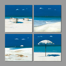 Blue seaside Landscape beach summer children living room kids Decoration Canvas Painting wall art pictures home decor unframed