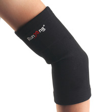 A22 Classic Black High Elastic Sports Gym Arm Sleeve Basketball Volleyball Comfortable Elbow Support Pad drop shipping