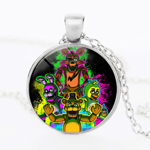 2017 Five Nights at Freddy's Necklace Toys FREDDY FAZBEAR Scrabble Tile Pendant glass cabochon necklace children christmas gift