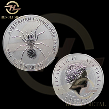 100pcs /lot FAST DELIVERY <4-8 Days to Europe> 1 Troy Oz .999 Silver 2015 Animal One Dollar Australia Funnel-Web Spider Coin