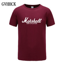 2018 Nieuwe Marshall T-shirt Logo Amps Versterking Guitar Hero Hard Rock Cafe Muziek Muse Tops Tee Shirts Voor Mannen fashion T-shirts(China)