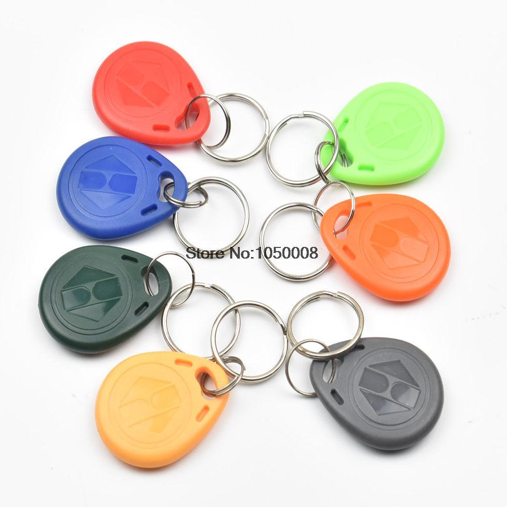 100pcs/lot  EM4305 Copy Rewritable Writable Rewrite EM ID keyfobs RFID Tag Key Ring Card 125KHZ Proximity Token Access Duplicate<br>