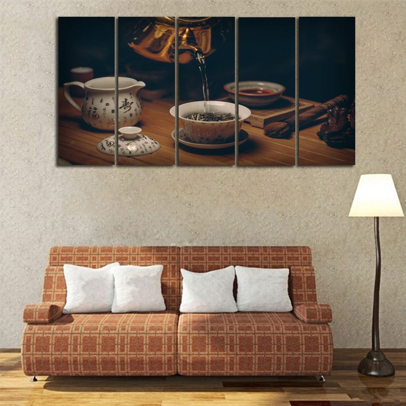 5-Pieces-Set-UNFRAMED-Painting-Chinese-Traditional-Tea-Culture-Canvas-Wall-Art-HD-Printing-Living-Room