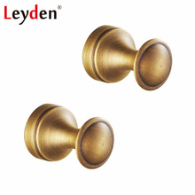Leyden Antique Brass Round Hanging Hook Wall Mounted Clothes Hook Copper Metal Coat Hooks Vintage Hooks Robe Bathroom Accessory