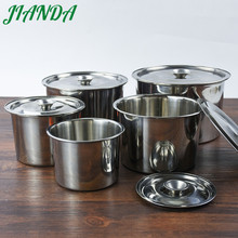 JIANDA Newest Stainless Steel Seasoning Pot with Cover Lid Salt Sugar Spice Pepper Storage Kitchen Accessories(China)