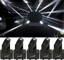 6xLOT Free Shipping 10W 4in1 RGBW Mini Led Beam Moving Head Wash Light DMX DJ Disco Projector Sound Party Club Strobe Lights