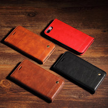 For IPhone 6 6s 7 Plus 5 5S SE Luxury Retro Faux Leather Case Flip Cover Wallet Bag with Card Holder Phone Cases For IPhone 7(China)