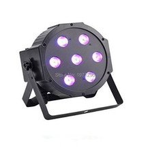4PCS/LOT HOT selling 7x9W LED PAR64 RGB 3IN1 TRI LED PAR LIGHT DMX Flat PAR CAN Free&Fast shipping(China)