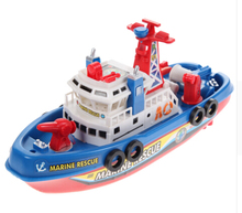 Cool Marine Rescue Boat Ship Model New Electric Toy Ship Boat Children Toy Navigation Non-remote Warship(China)