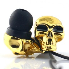Fashion Cool Stereo Metal Skull Earbuds Skeleton Sub-woof In Ear Earphone 3.5mm Connector For Halloween Gift