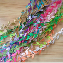 2m Artificial Green Flower Silk Leaves Rattan DIY Garland Accessory For Home Wedding Decoration Artificial Scrapbooking Flower