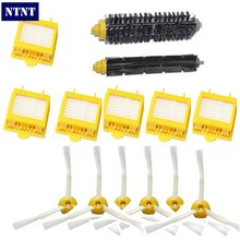 NTNT For iRobot Roomba 700 Series 760 770 780 790 Hepa Filters Bristle Brush Flexible Beater Brush 3-Armed Side Brush Pack Set(China)