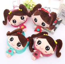 1X Kawaii Cartoon Little Girls Satchel BAG , Kid's Plush Coin BAG Purse Wallet Pouch Messenger BAG ; Little Shoulder BAG Pouch