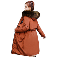 2018 New Fashion Two Sides Wear Winter Jacket Women Colorful Fur Hooded High Quality Warm Coat Outwear Womens Parka