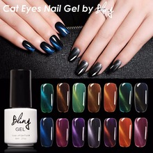 FOCALLURE New Cat Eye Nail Gel Soak-off UV Gel Polish 3D Eyes UV Gel Nail Polish Magnetic Gel Lacquer Long-lasting Hot Colors(China)