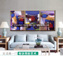 Wholesale DaFen Hand Painted Oil Painting on Canvas Abstract Landscape Wall Painting for Living Room Hetol Decor Paintings