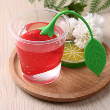 1PC Red/Yellow Strawberry Loose Tea Leaf Strainer Herbal Spice Infuser Filter Diffuser Hot Tea Strainers(China)