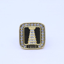 YKIN Men Ring 1993 Montreal Canadiens Stanley Cup Replica Championship Ring Zinc Alloy Ring Fast Shipping(China)