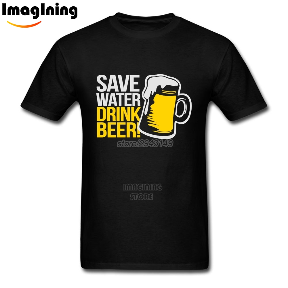 Save Water Drink Beer T-shirts XXXL For Boyfriend Photo T Shirts(China (Mainland))