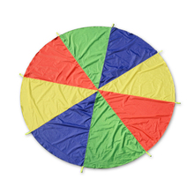 Kids Play Rainbow Parachute 8 Handles 2m Multicolor Nylon Parachute Outdoor Fun Sports Kids Toy Suitable For 4-8 individuals