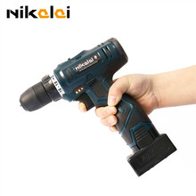 Nikalai Two speed 25V lithium-ion battery Charging cordless drill 16.8v electric screwdriver torque drill hand drill power