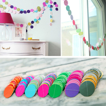 Colorful Round Heart Hanging Paper Garlands String Wedding Party Birthday Decor Store 243(China)