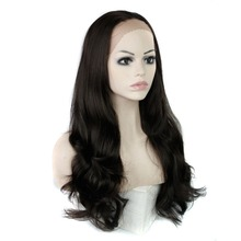 "Luxury For Braiding 30"" Natural Black Blonde African American Wigs Wavy Heat Resistant Synthetic Wig for Women"