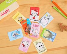 16 Styles Newest Doraemon Card Stickers Funny Anime Minions Totoro Hello Kitty Figures Kids Classic Toy Gift Bank Bus ID Card
