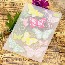 Diy scrapbook photo album card making tools bumpmaps plastic template plastic embossed butterfly