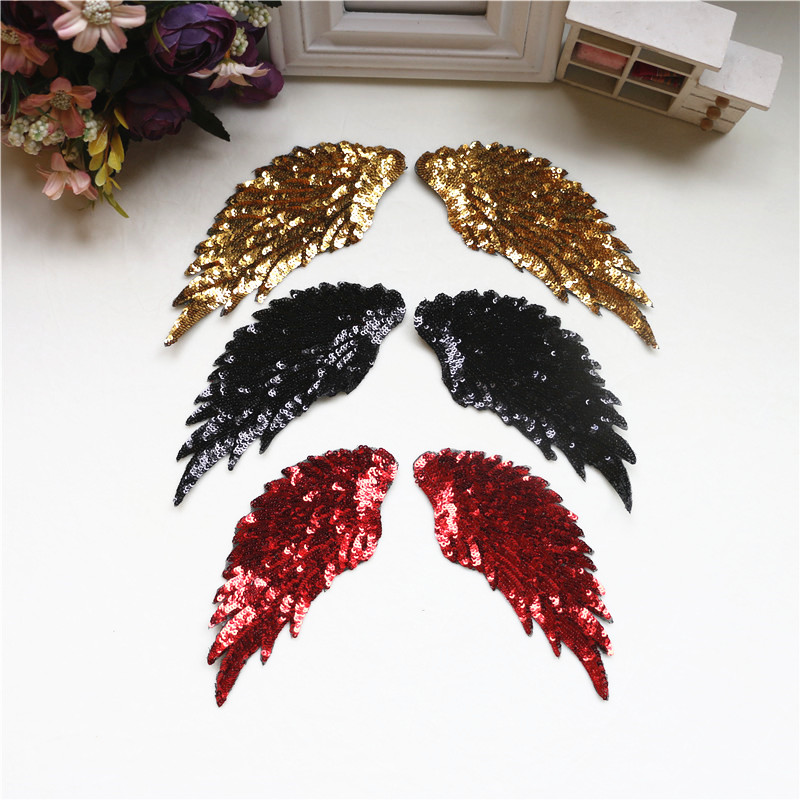 Angel wings luxury exquisite embroidery accessories wings cloth stickers DIY New