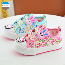 2017 Spring baby girl toddler shoes soft bottom 0 to 3 years old children canvas shoes flowers kids casual sport shoes(China)
